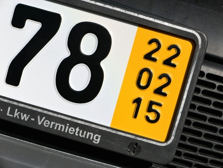 temporary: validation date of a special temporary plate for vehicles in Germany