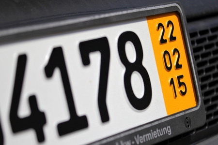 validez: validation date of a special temporary plate for vehicles in Germany