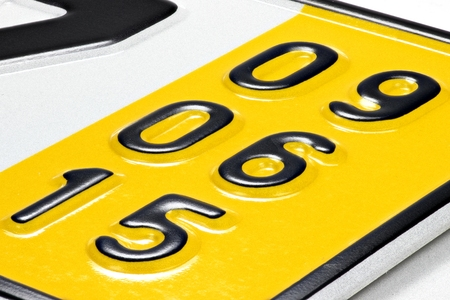 numberplate: validation date of a special temporary plate for vehicles in Germany