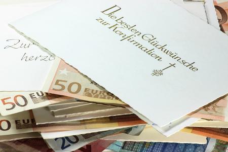confirmacion: tarjetas de confirmaci�n alemanes con regalos de dinero