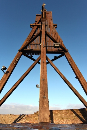 navigation aid: Kugelbake - historic aid to navigation in the city of Cuxhaven  Germany