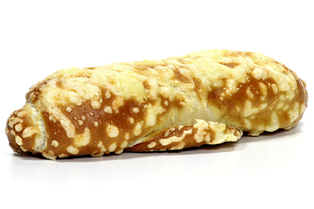 breadstick: pretzel breadstick with cheese isolated on white background Stock Photo