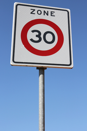km: Dutch road sign: start of a 30 km  h zone