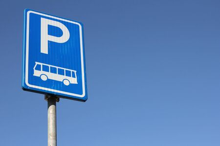 exclusively: Dutch road sign: parking facilities for buses only