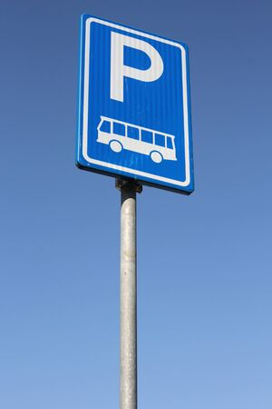 parking facilities: Dutch road sign: parking facilities for buses only