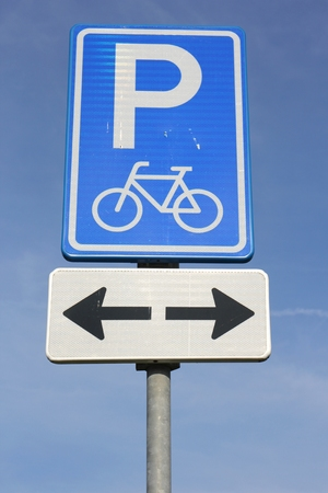 parking facilities: Dutch road sign: parking facilities for bicycles only