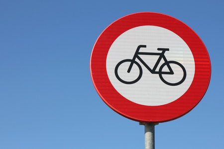 no access: Dutch road sign: No access for bicycles