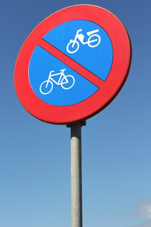 no  parking: Dutch road sign: no parking bicycles or mopeds