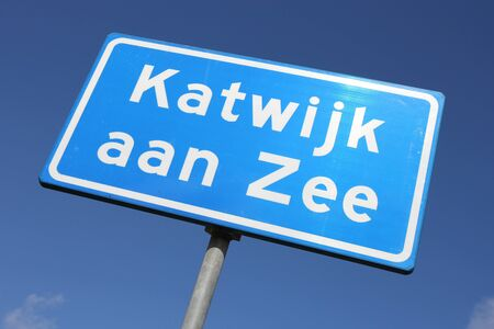 dutch: Dutch road sign: built-up area Stock Photo