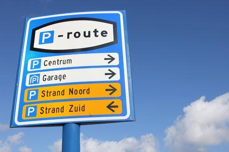 dutch: Dutch road sign: parking route