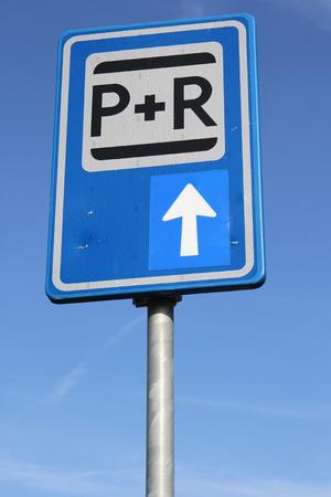 dutch: Dutch road sign: park and ride facilities