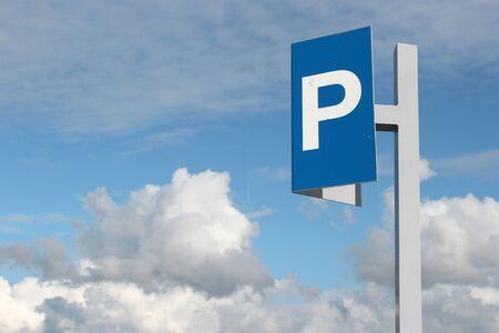parking ticket: Dutch road sign: parking ticket machine