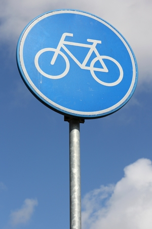 cycles: Dutch road sign: route for pedal cycles only