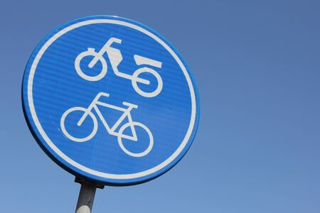 cycles: Dutch road sign: route for pedal cycles and mopeds only