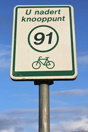 bikeway: Dutch bikeway sign