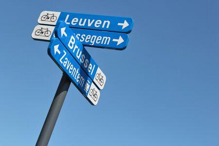 bikeway: Belgian bikeway signposts