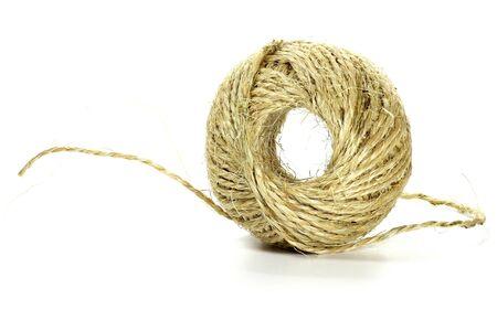 sisal: sisal cord isolated on white background