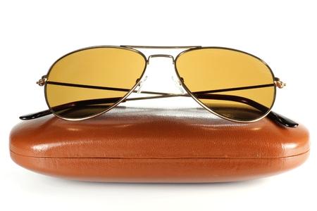 no name: sunglasses isolated on white background (no name product) Stock Photo