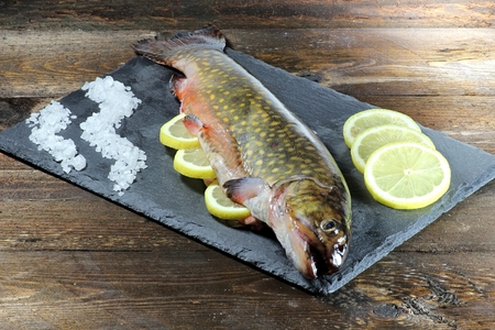 edible fish: char ready to cook Stock Photo