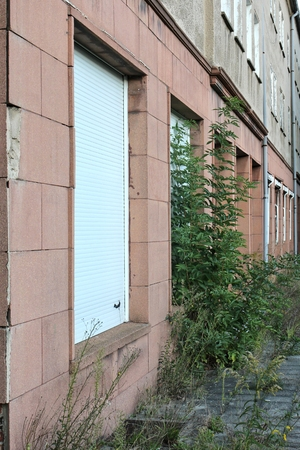 housing crisis: vacant building