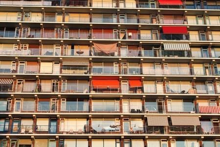 rent index: apartment block