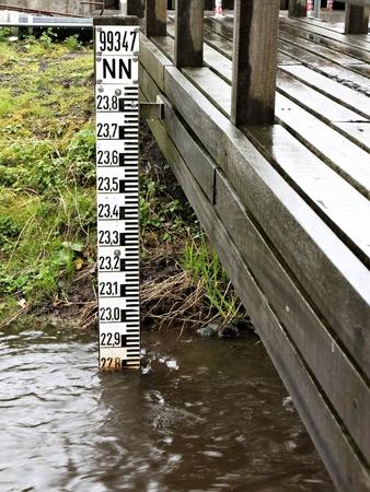pluviometro: escala de nivel de agua