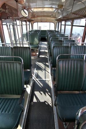 public service: inside a classic public service vehicle