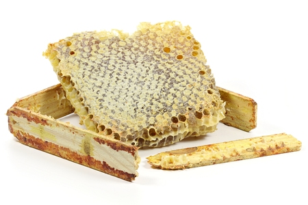 honey comb: comb honey isolated on white background Stock Photo