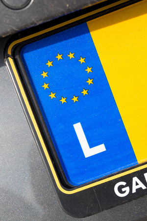 numberplate: country identifier of EU car registration plate: Luxembourg