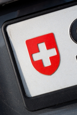 numberplate: country identifier of car registration plate: Switzerland Stock Photo