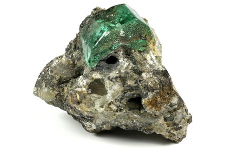 bedrock: emerald nestled in bedrock found in Muzo  Colombia
