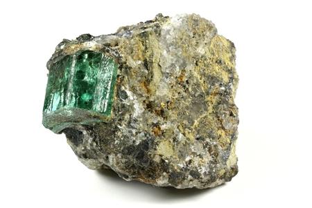 nestled: emerald nestled in bedrock found in Muzo  Colombia