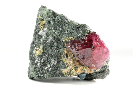 bedrock: ruby nestled in bedrock found in Winza  Tanzania