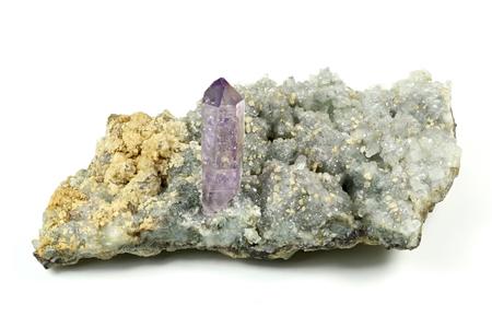 unprocessed: amethyst with calcite found in Osilo  Sardinia