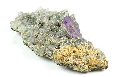 amethyst rough: amethyst with calcite found in Osilo  Sardinia
