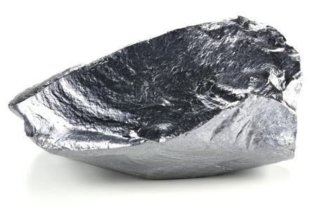 zeer zuiver silicium uit Freiberg  Duitsland op een witte achtergrond Stockfoto