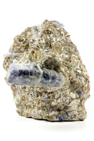 bedrock: sapphire nestled in bedrock found in Badakhshan Province  Afghanistan Stock Photo