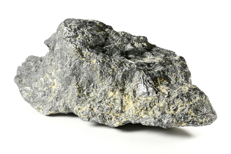 graphite: graphite from Bavarian Forest  Germany isolated on white background