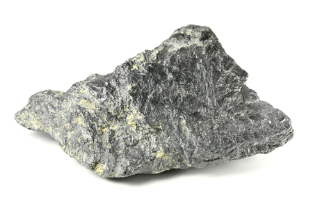 grafit: graphite from Bavarian Forest  Germany isolated on white background