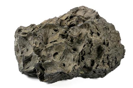 scoria: scoria from Mount Etna  Sicily isolated on white background Stock Photo