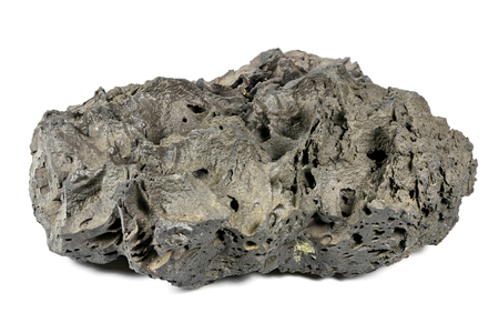 artefacts: scoria from Mount Etna  Sicily isolated on white background Stock Photo