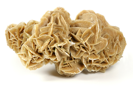 desert rose found in Tunisia isolated on white background
