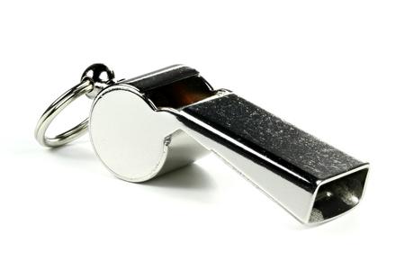 impartial: whistle isolated on white background Stock Photo