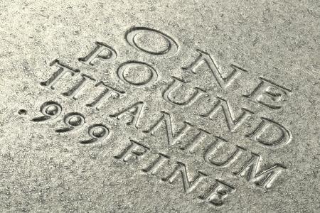 titanium: one pound titanium ingot Stock Photo