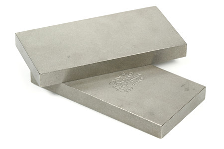 titanium ingots isolated on white background