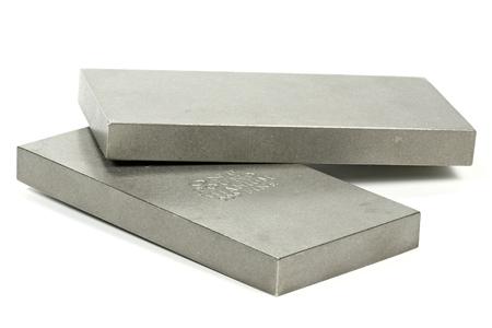titanium: titanium ingots isolated on white background