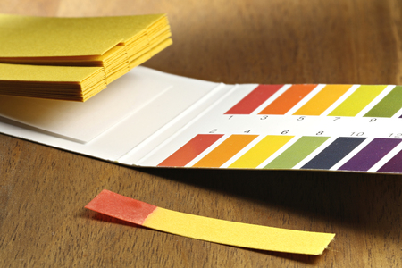 acidic: universal indicator paper with acidic testing