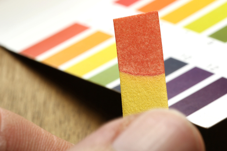 color paper: universal indicator paper with acidic testing