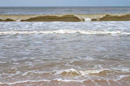 breaking waves: breaking waves at the Dutch North Sea coast Stock Photo