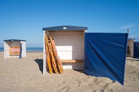 beach huts: traditional beach huts at the Dutch North Sea coast
